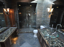rock foil tiles and other stoned tiles bathroom design